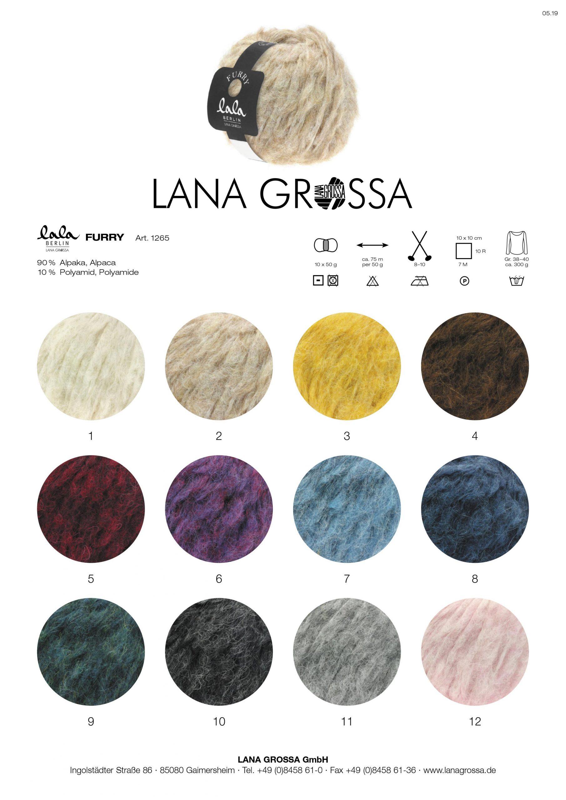 Kleurenkaart - Lala Berlin Furry